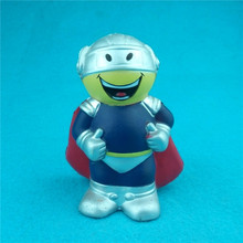 Promotional logo printed superman squeeze talking PU anti stress foam ball