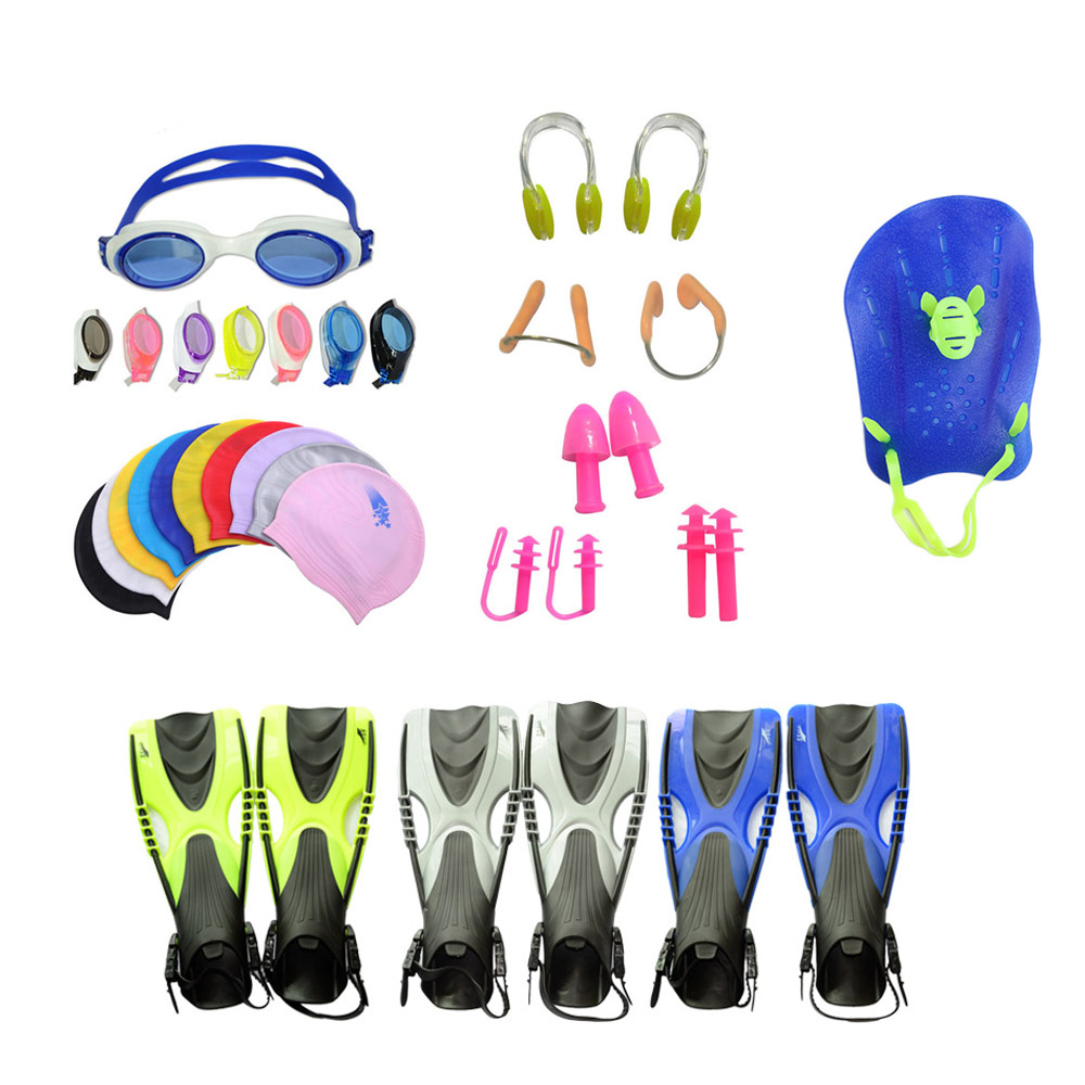 Cheap price swim glass starter kit, soft goggles earplug case