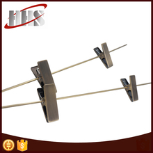 Customized High Quality Metal Hanging Clips With Bar For Pants Hanger