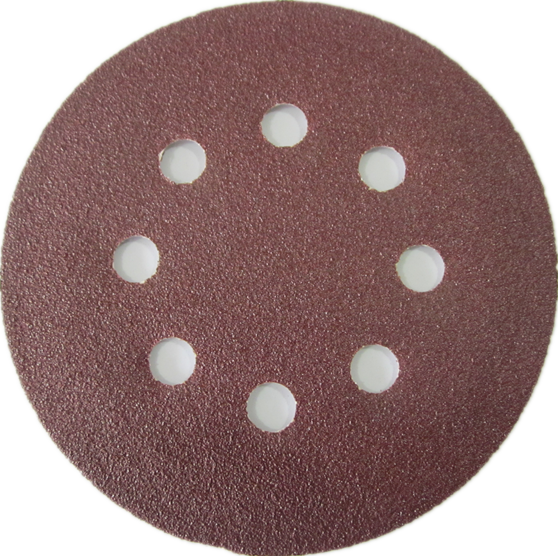 125mm sand paper with velcro 8holes hot sale