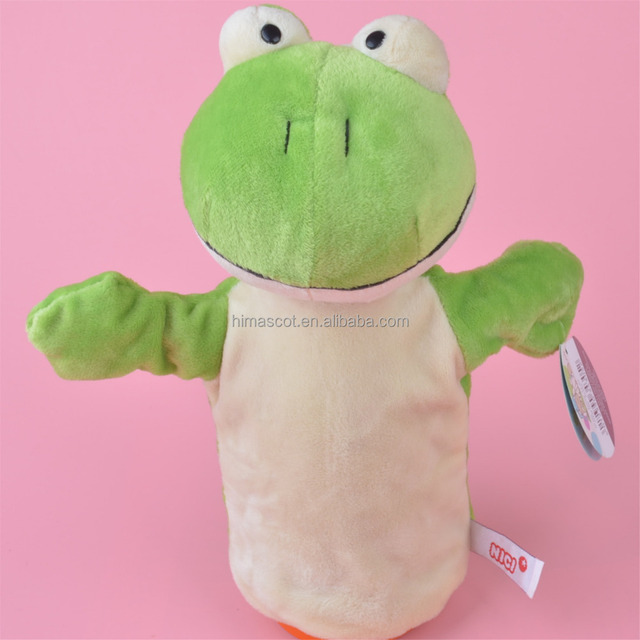 HI CE New design plush frog hand puppet animal hand puppet for sale
