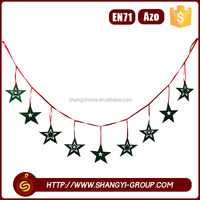 Hot sale polyester felt hanging christmas garland stage decoration material