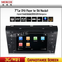 Factory Capacitive touch screen car dvd player for OLD MAZDA 3 2004-2009 with MTK MT3360 3g wifi Support iPod iPhone by USB Port