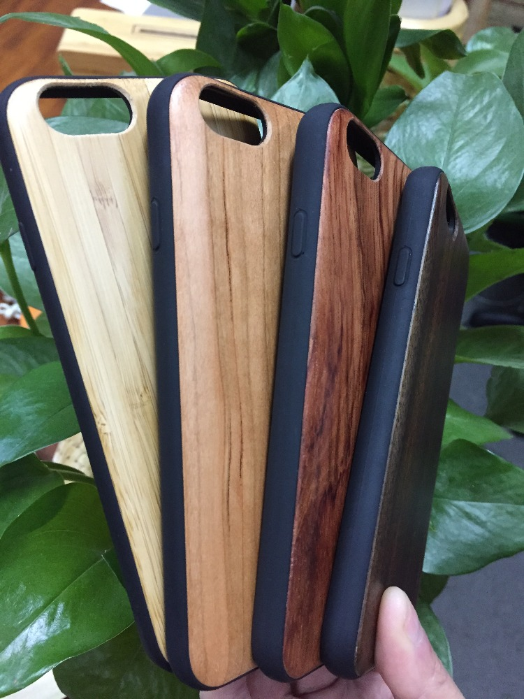 for iPhone Accessories New Trend Fashion Real Wood with TPU Case for iPhone 6