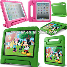 Soft EVA Foam Kids Child Proof Hot Pink Kickstand Case for iPad mini