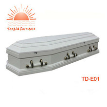 TD-E01 Wholesale Quality European Style Cheap Wood Coffin