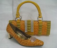 Latest yellow shoes and matching bags