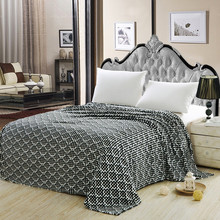 Chinese check motifs flannel blanket,six colours can be choosed