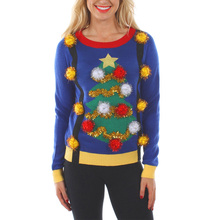 custom design high quality knit wool ugly christmas sweater