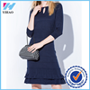 Yihao Elegant Womens knitted fish tail dress O-Neck half sleeve slim bodycon Dress