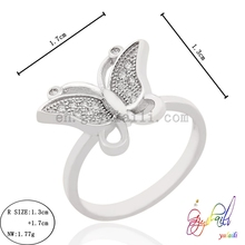 925 silver jewelry ring for bride in wedding butterfly shape wholesale