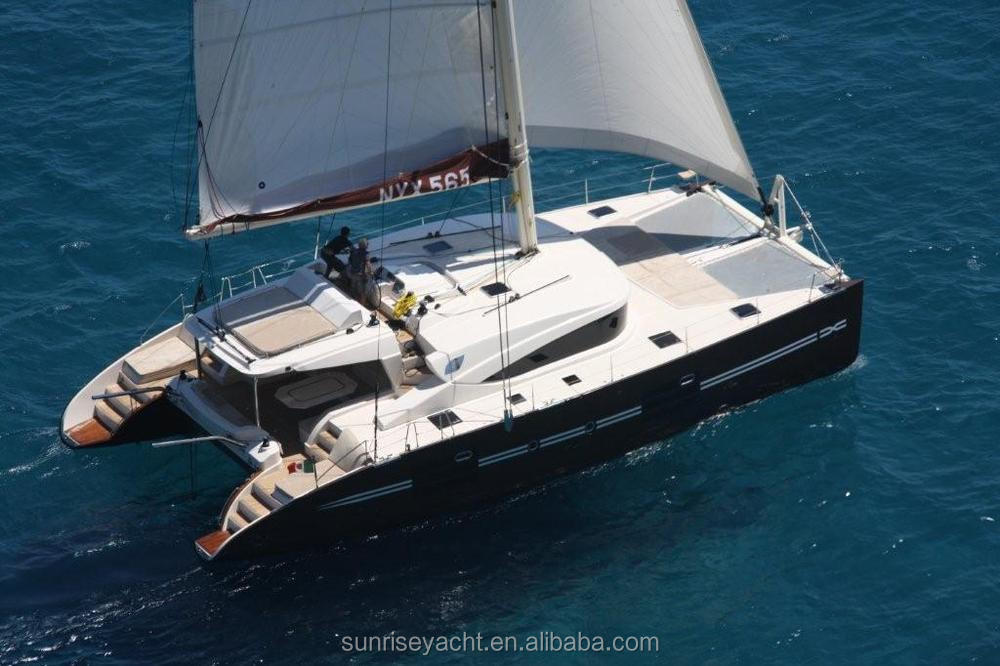 SUNRISE 57 Fiberglass Catamaran With Aluminum Mast Sailing Catamaran Luxury Yacht