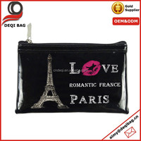 Black Vinyl Cheap Price Coin Bag Souvenir Coin Purse