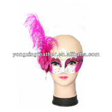 ostrich feather celebrity mask