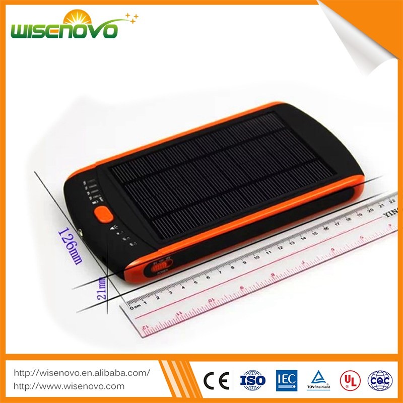 High quality free sample 23000 mah power bank usb solar power bank slim for mobile phone laptop