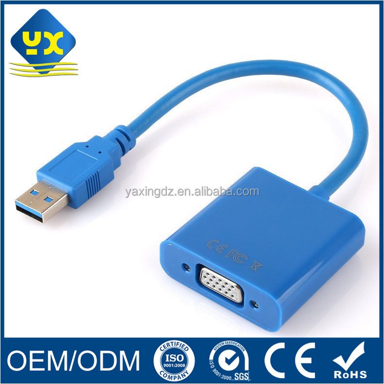 USB 3.0 Male to VGA HDB 15P Female Adapter cable