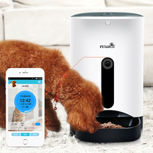 Wholesale OEM Accept Automatic Pet Feeder Smart Phone App with Wi-Fi and Webcam Control dog & Cat feeder