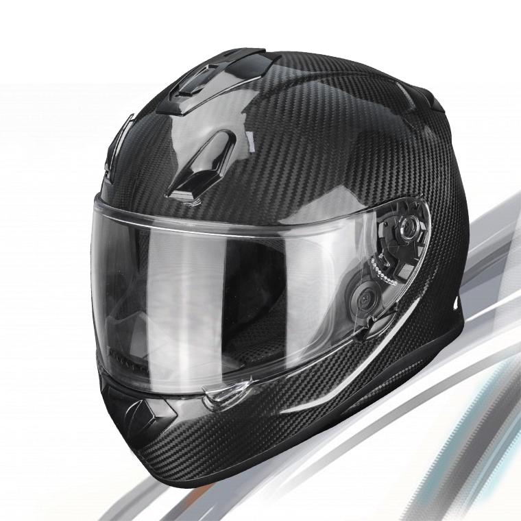 Gold Supplier China Safety Carbon Fiber Custom Predator Motorcycle Helmet for Sale