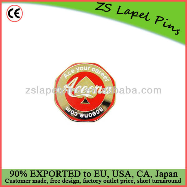 custom made metal enamel button with epoxy dome