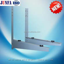 Fence mounting bracket and fixed-side support and free air conditioning bracket