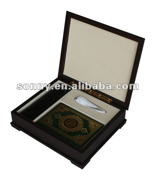 Wooden Quran and Read Pen Storage Box