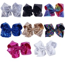 New Design Jojo Bows High Quality 8 Inch Big Sequin Hair Accessories Hair Bow For Girls