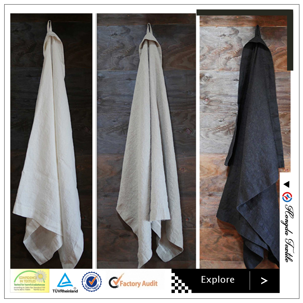 The thick and absorbent 100% flax linen stone washed face towels