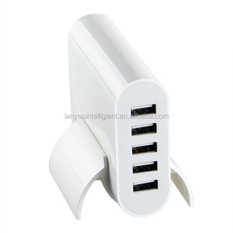 5 ports USB Wall Charger QC3.0 Travel charger home charger for iPhone