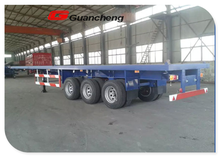 China new semi trailer price 40ft flatbed trailer with container lock