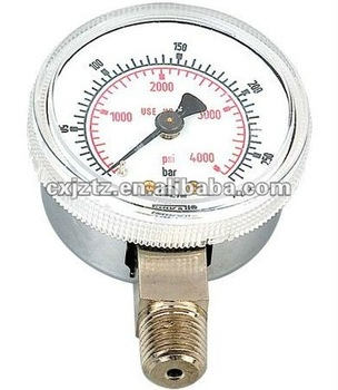 "2.5"" oxygen gauge in all stainless steel case"