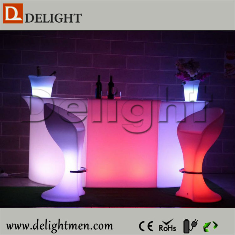Wholesale glow up plastic 16 color changing rechargeable led colorful bar chair 3d model for party