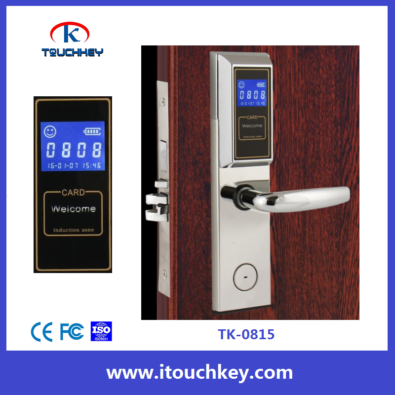 Economic Good Quality LCD Screen display with room number hotel key card lock