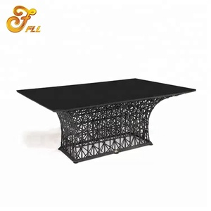 rattan wicker dining table outdoor restaurant hotel furniture