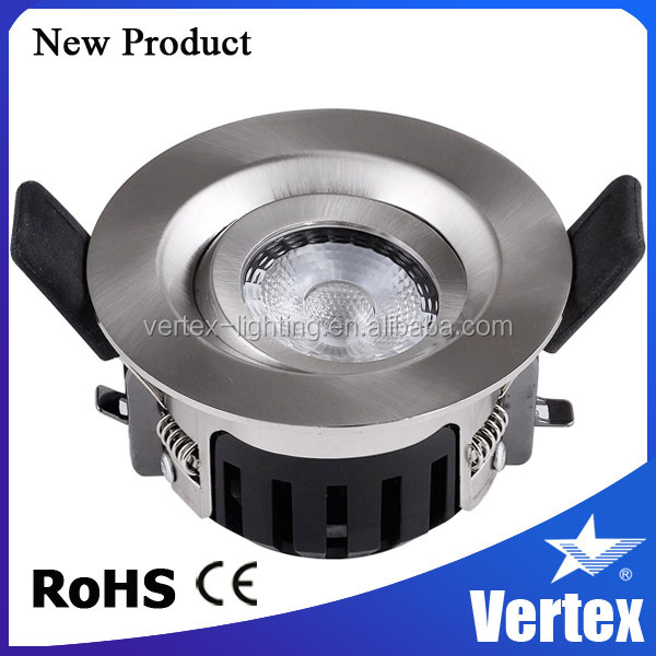 8w Brushed nickel recessed LED downlight with traic dimmable driver