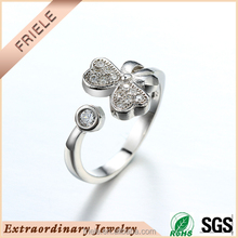 Chinese Wholesale fashion simple flower design open ring smart ring 925 sterling silver Ring