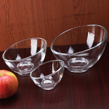 mouth glass bowl Fruit salad dessert bowls,3-Piece Glass Mixing Bowl Set, wholesale