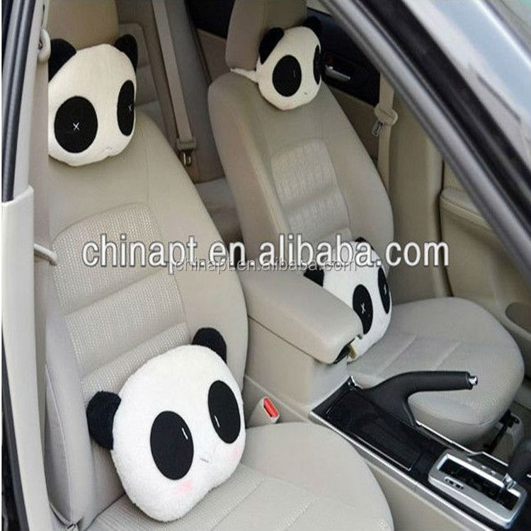 Chritmas gift wholesale car accessory panda toy/pillow for car seat
