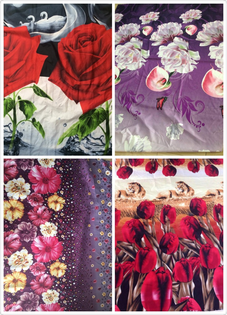 changxing cheap polyester peach skin print bedsheet fabric