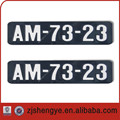 custom embossed aluminum number license plate