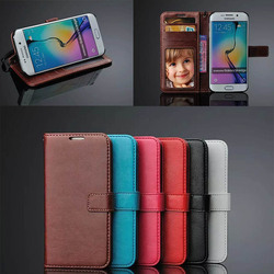 for samsung s6 edge crazy horse leather case,phone cover for s6 edge