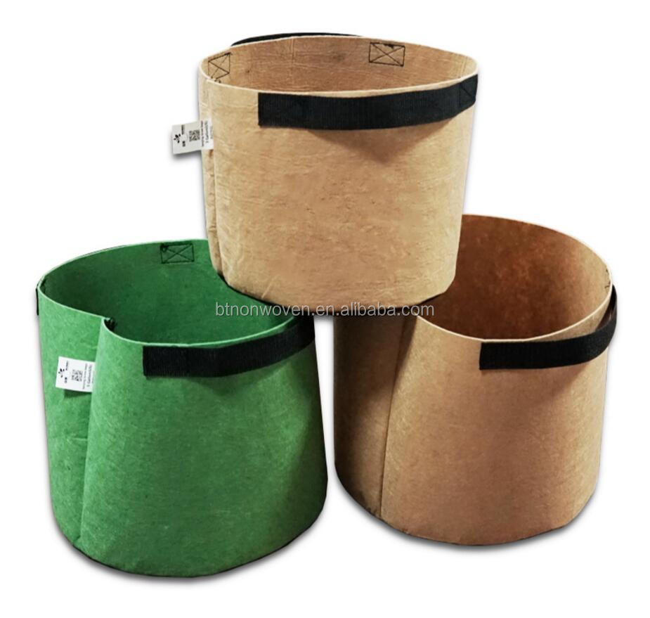 Best-Today hot sale Garden PET non-woven Plant Grow Bag PET felt vegetable garden grow bag