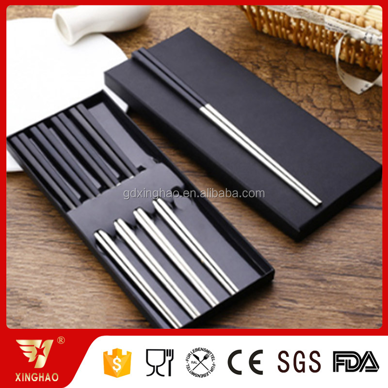 Gift Set Packing Gold/black Gold Plated Chopsticks for Promotion