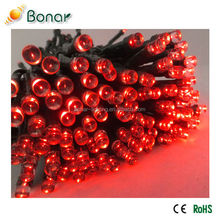 Outdoor Decorative Multi Colored Super Bright String Lights Solar Powered LED Red Christmas Lights