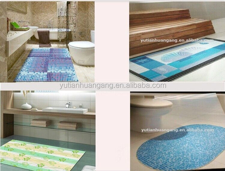 Soft and comfortable hotel decorative floor pvc foam anti slip bath mat