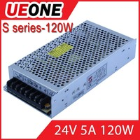 120v24v 5s ac dc switching power supply s-120-24 switch mode power supply