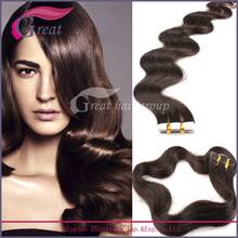 Greathairgroup professional factory Brazilian grade 8a virgin hair extension, tape hair extension,tape on hair extension