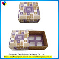 Recycle promotional drawer style paper cupcake box