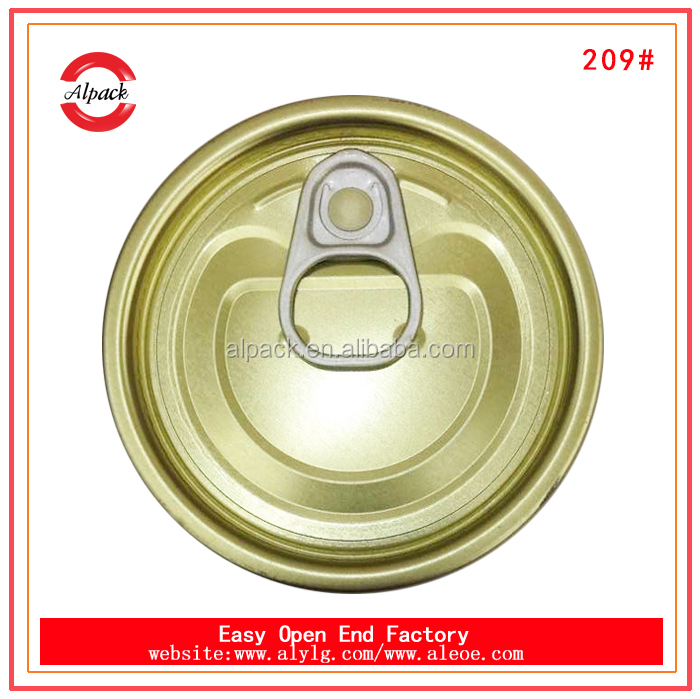 209# canned lupin beans lid tinplate easy open end