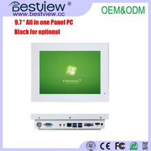 windows/linux/mac Fanless Industrial White All in One 9.7 inch all in one pc for medical use