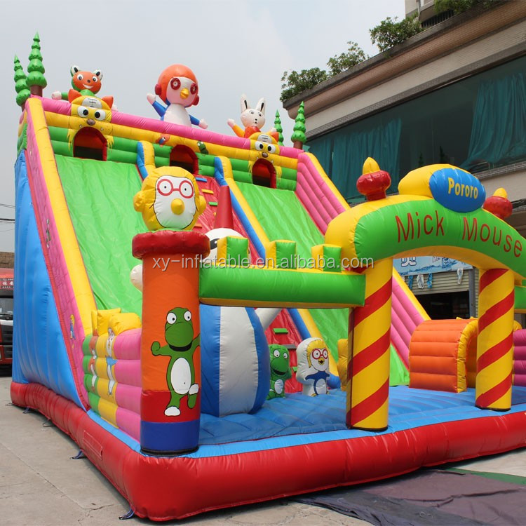 Inflatable children playground, bounce inflatable theme park